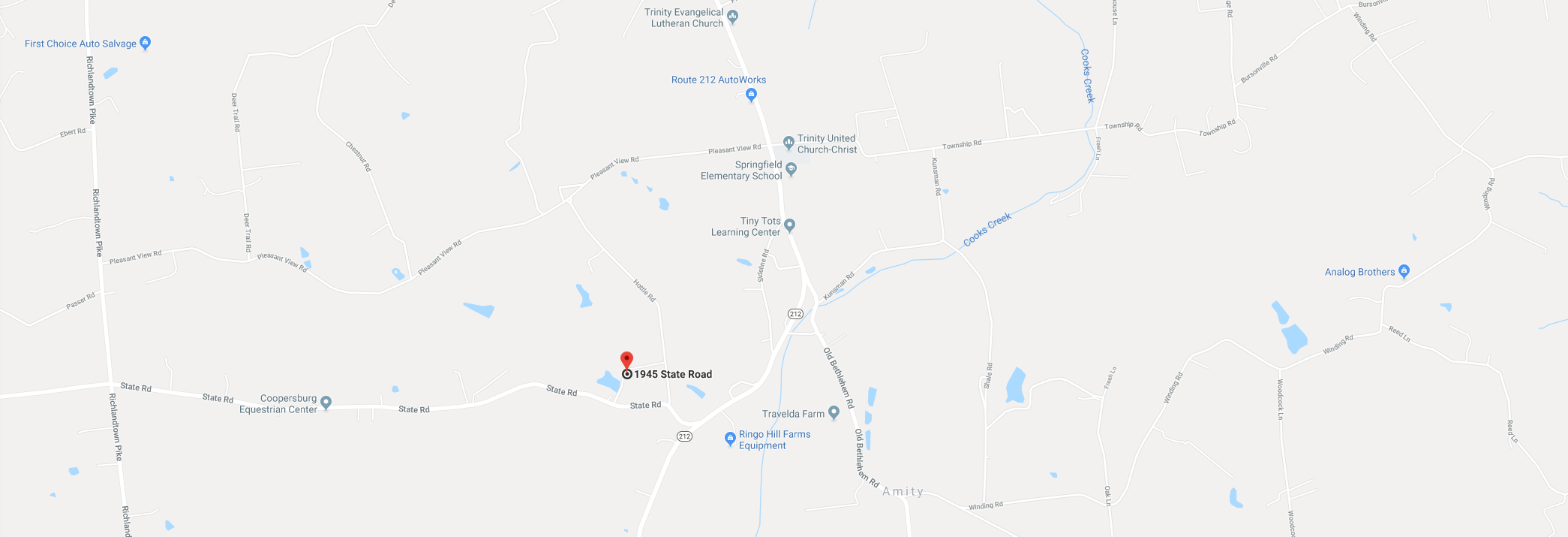 Map of AnWell Veterinary Rehab Center Location